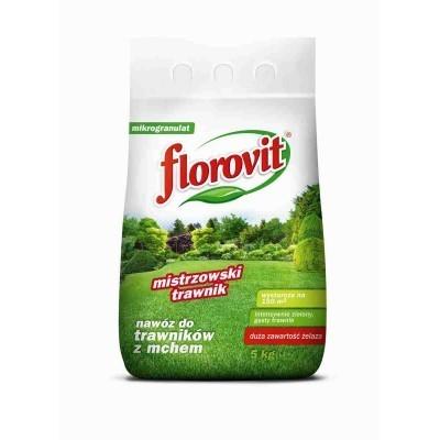 Nawóz florovit do trawników 5kg mech żelazo