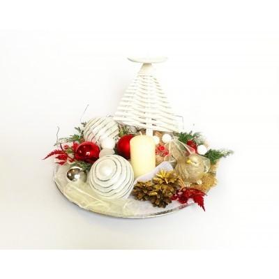 Stroik Boże Narodzenie Świąteczny okrągły