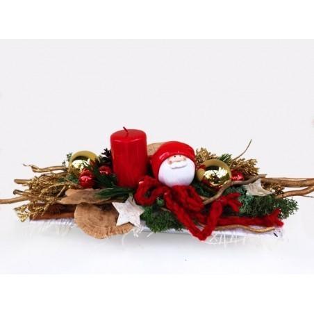 Stroik Boże Narodzenie Świąteczny z mikołajek Ceramicznym 42cm