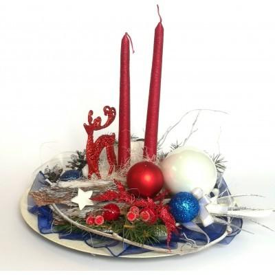 Stroik Boże Narodzenie Świąteczny okrągły, renifer, nowoczesny design