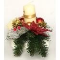 Stroik Bożonarodzeniowy złoto i czerwień