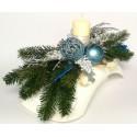 Stroik Bożonarodzeniowy motyl na stół komodę