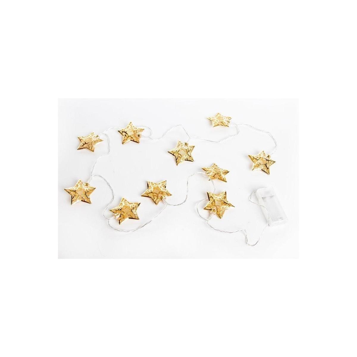 Oświetlenie dekoracyjne gwiazdki GOLD(36 szt)