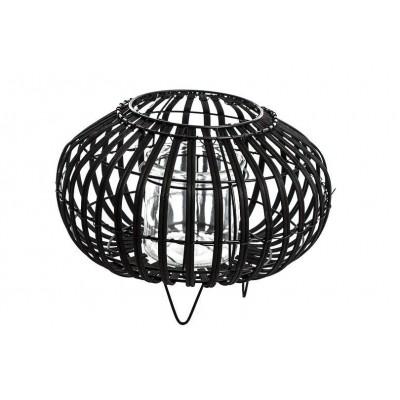 Czarny lampion drewniany