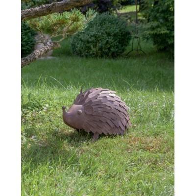Figura ogrodowa metalowa jeż 34cm