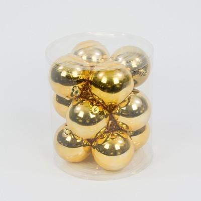 bombka plastikowa złota błyszcząca 60 mm