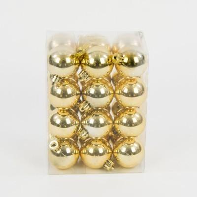 bombka plastikowa złota błyszcząca 40 mm