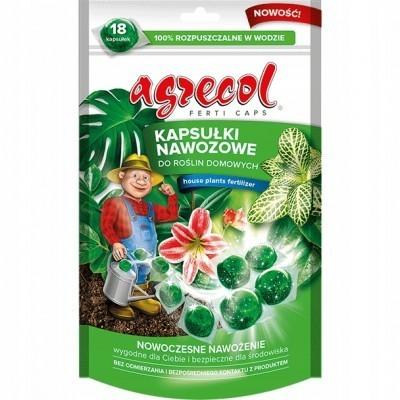 Kapsułki nawozowe do roślin domowych 18 kapsułek Agrecol