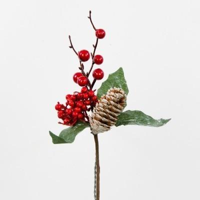 Gałązka ozdobna świąteczna dekoracyjna na stroik
