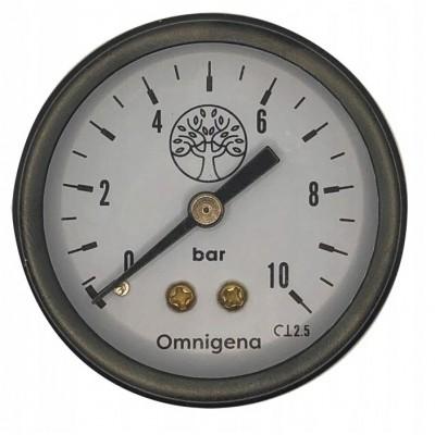 """Manometr do pompy 10bar gwint zewnętrzny 1/4"""" tylne Omnigena"""